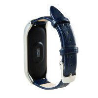 Ремешок Gasta Leather classic for Xiaomi Mi Band 3 and Mi Band 4 color Blue